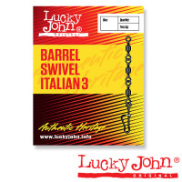 Вертлюги c застежкой Lucky John BARREL3 AND ITALIAN 007 7шт.