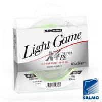 Леска плетен. Team Salmo LIGHT GAME F.Green X4 100/004