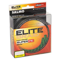 Леска плетёная Salmo ELITE BRAID (желтая) 091м. 0,24мм.